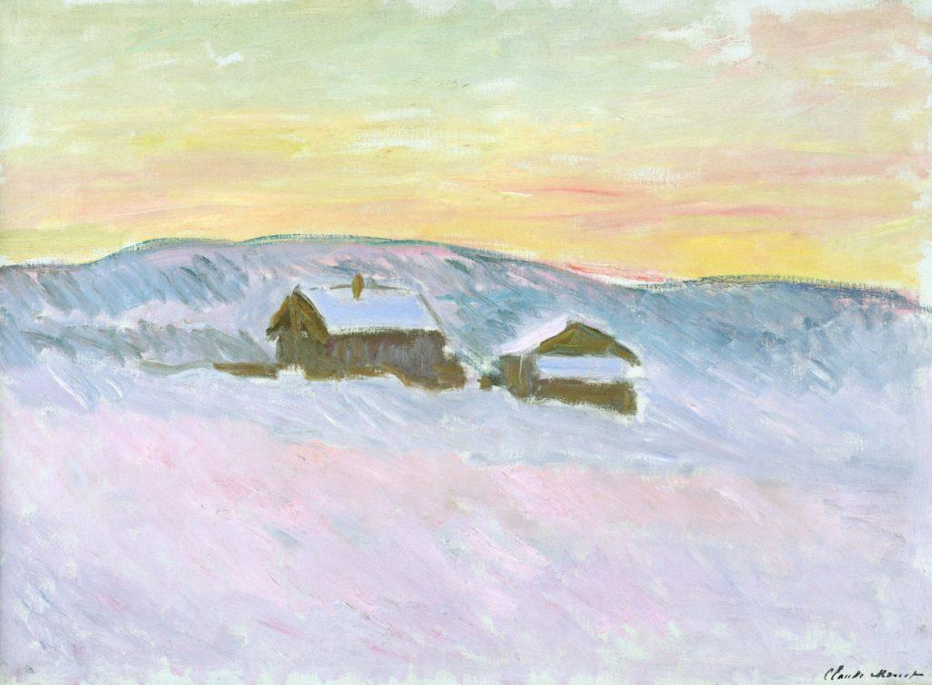 Claude Monet, Paysage de Norvège, les maisons bleues, 1895