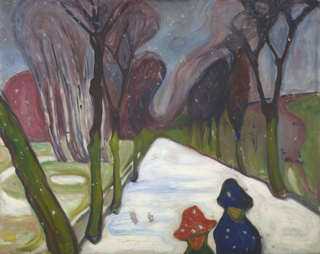 Edvard Munch, Neige fraîche sur l'avenue, 1906