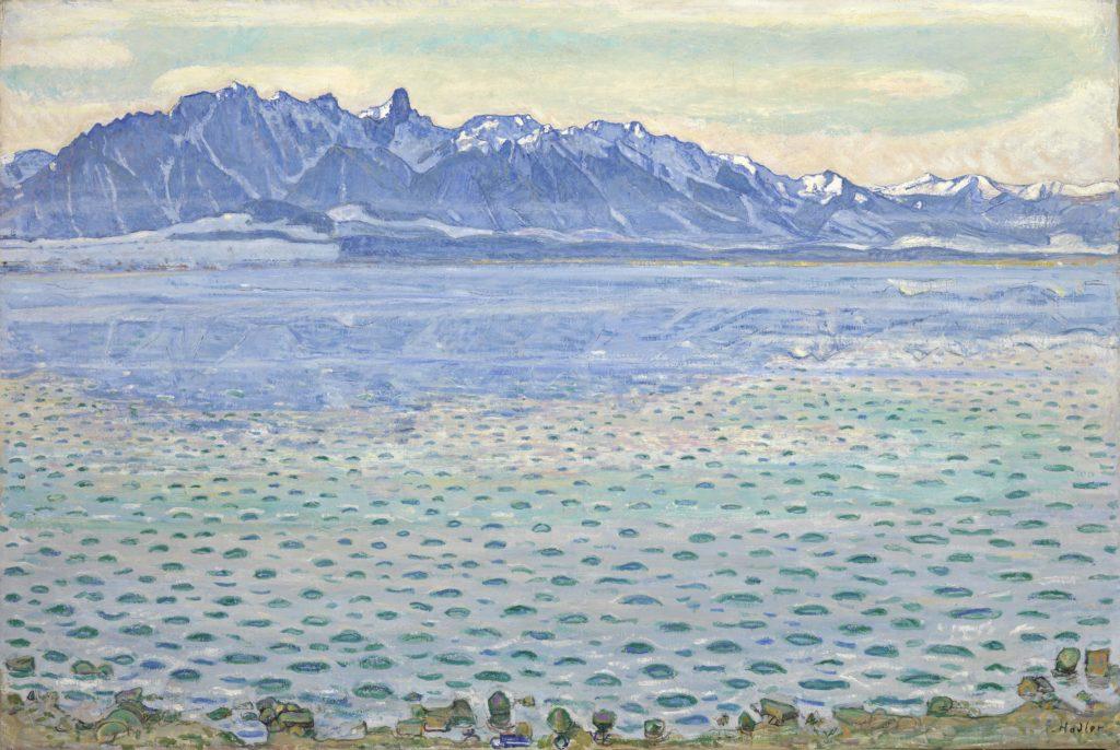Ferdinand Hodler, Le Lac de Thoune et la chaîne du Stockhorn, 1904