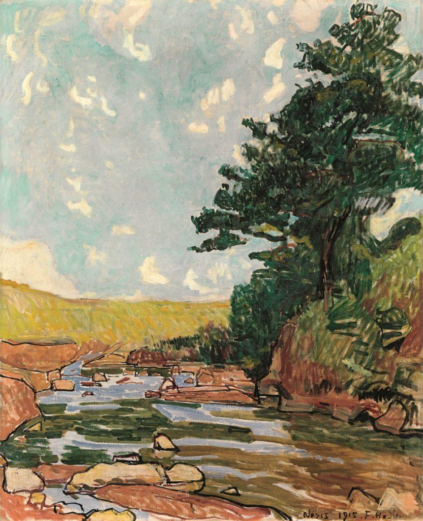Ferdinand Hodler, Paysage près de Néris, 1915