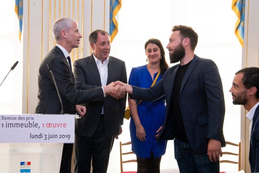 Prix 1 Immeuble 1 œuvre 2019 © MC:Thibaut Chapotot pour le Ministère de la Culture