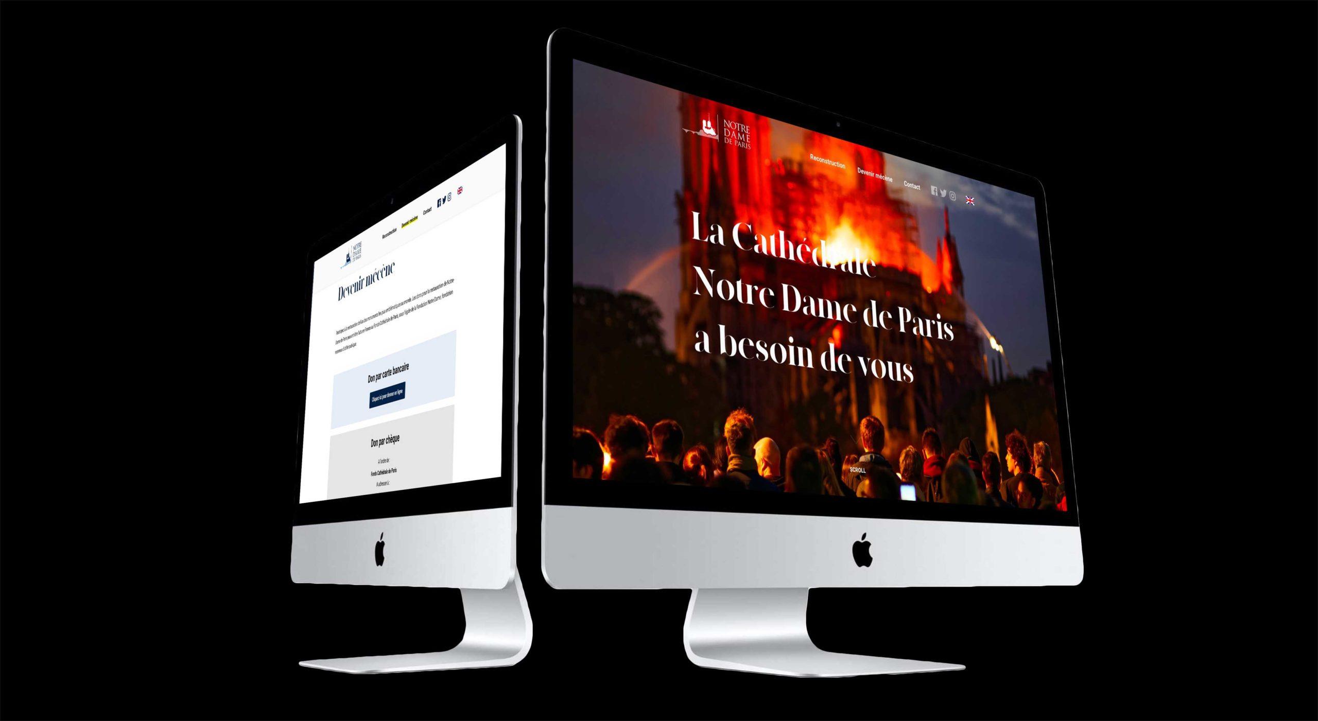 Site internet Cathédrale Notre Dame de Paris THE FARM
