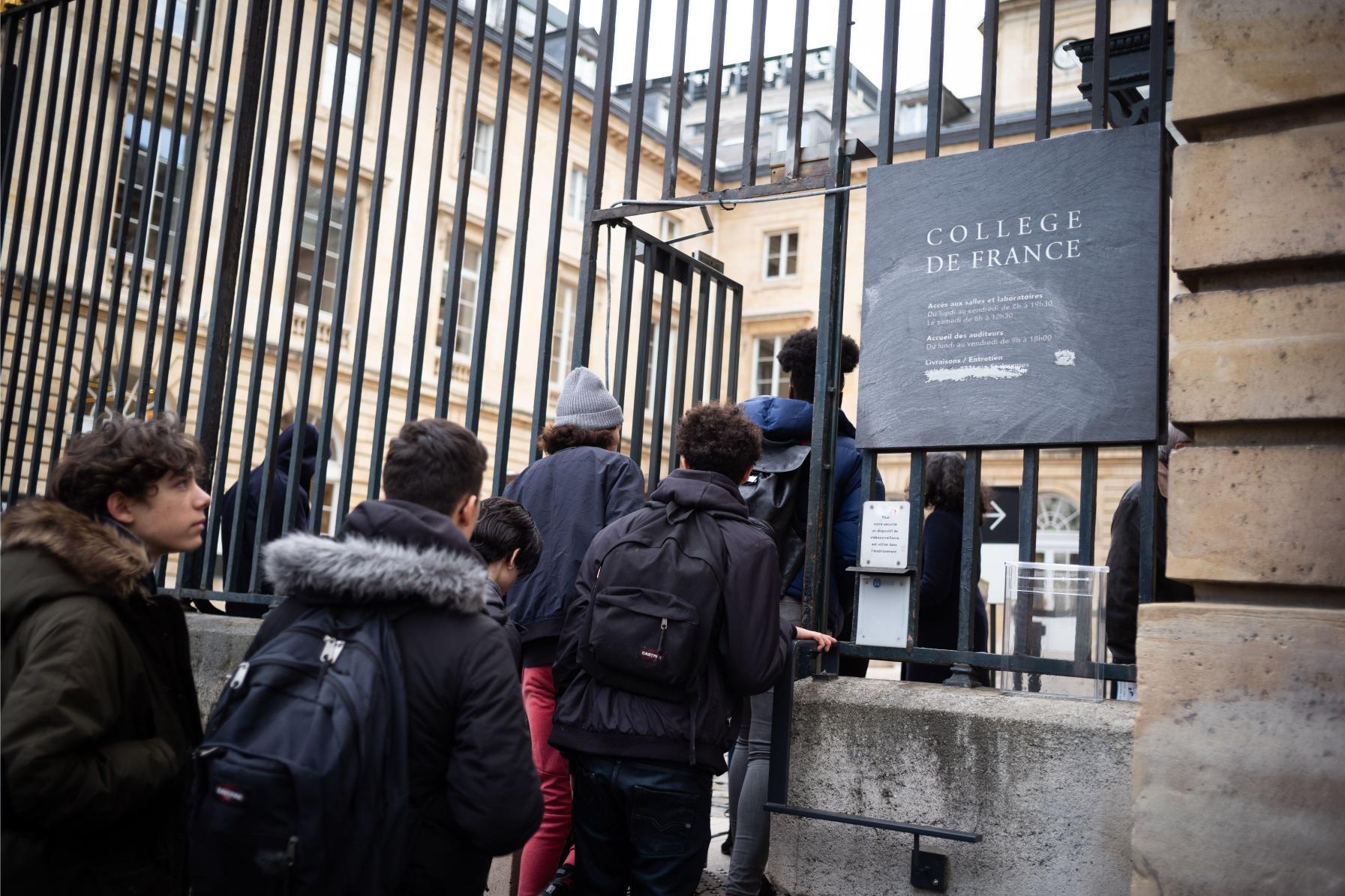 Des Lycéens au Collège de France