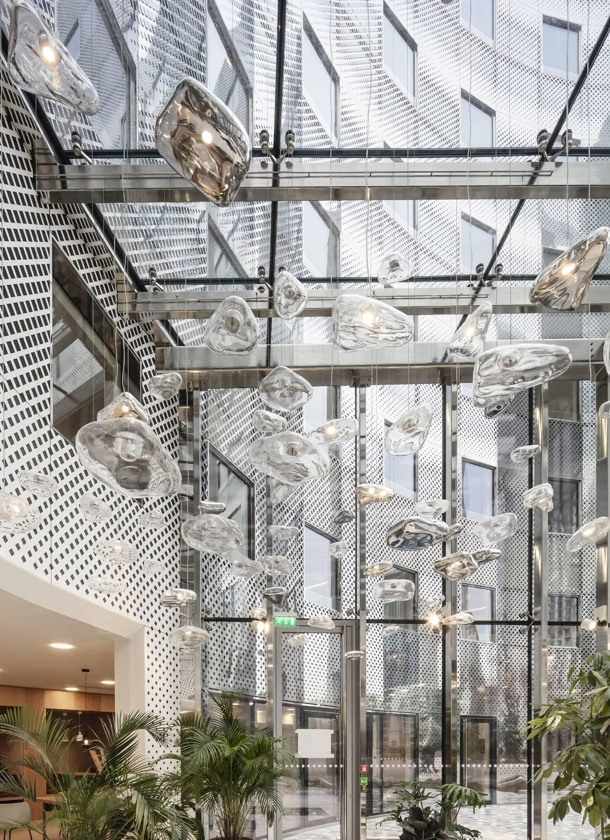 Isa Moss, Mercure & Eau, 2019 (Le Belvédère, Puteaux, Vinci Immobilier, Axel Schoenert architectes) © Luc Boegly