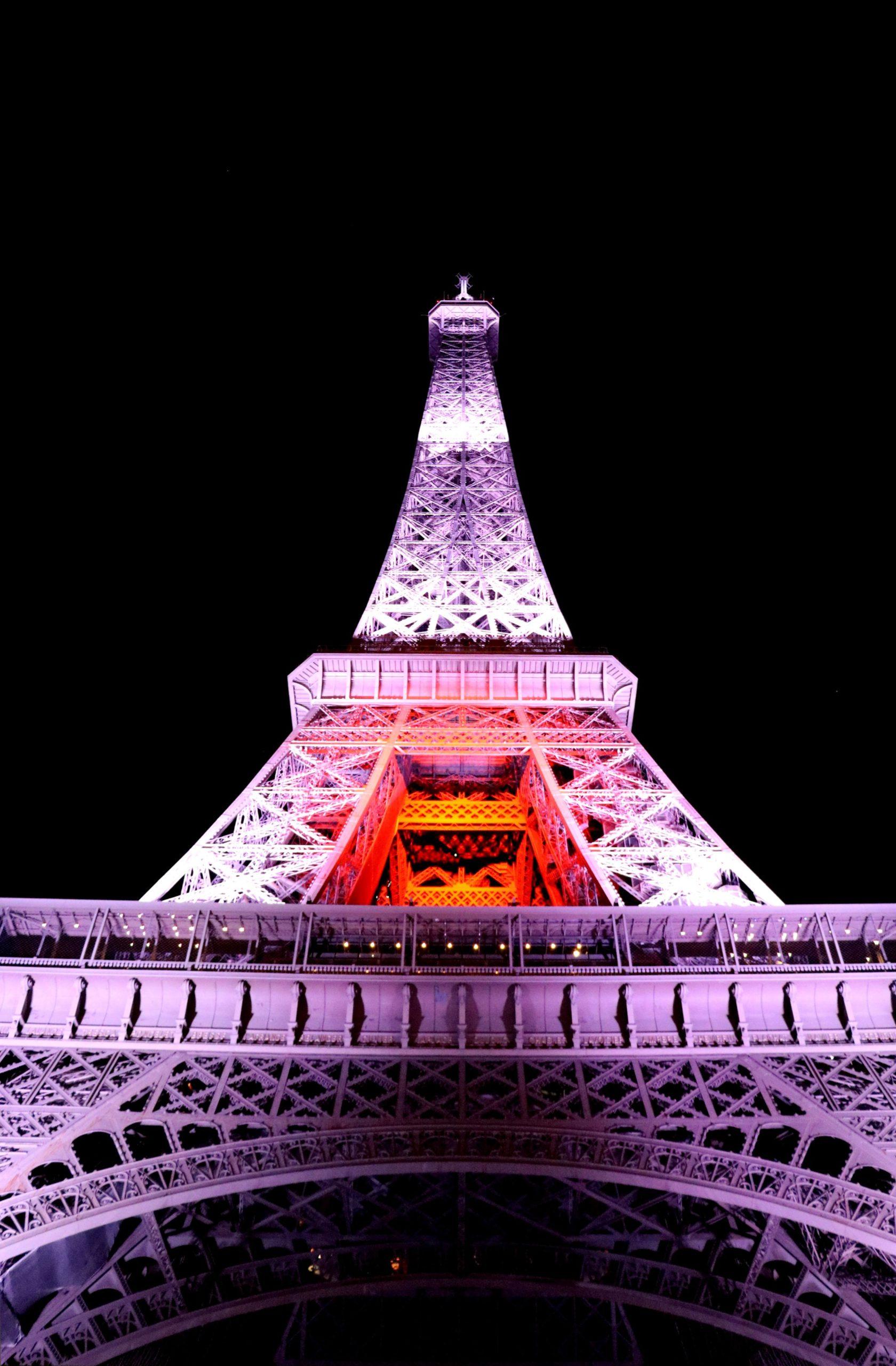 Les lumières du Japon illuminent la Tour Eiffel