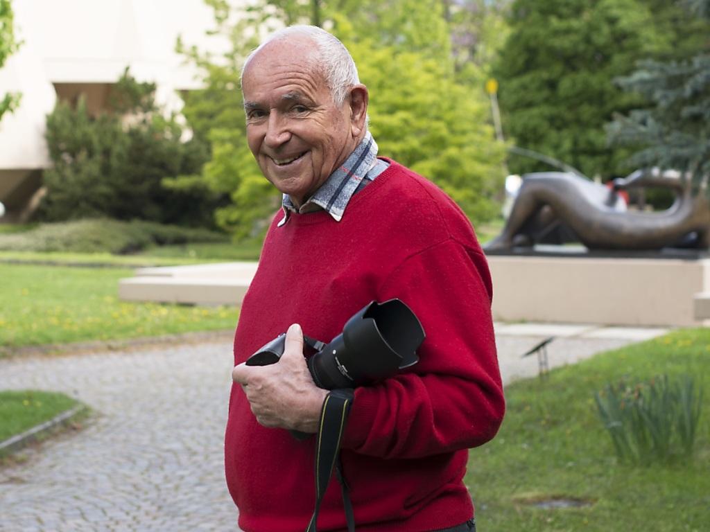 Michel Darbellay, en 2014, dans le Parc de la Fondation Pierre Gianadda.