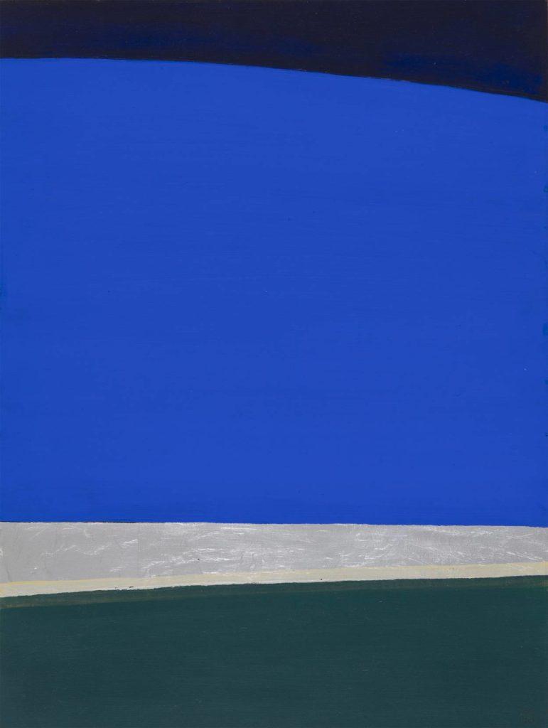 Anna-Eva Bergman, N°5 Paysage vert et bleu-1970-80 x 60 cm, Courtesy - Galerie Poggi