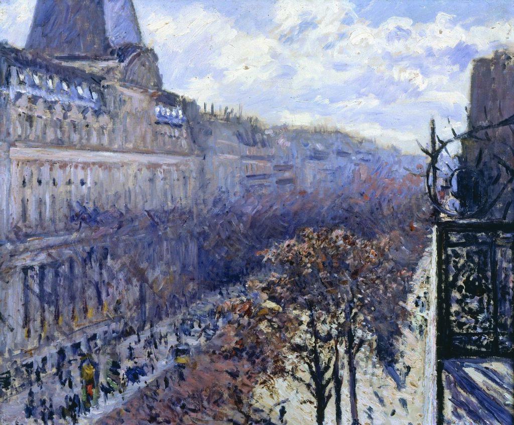 Gustave Caillebotte, Boulevard des Italiens, 1880, Collection privée © Galerie Brame et Lorenceau, Paris
