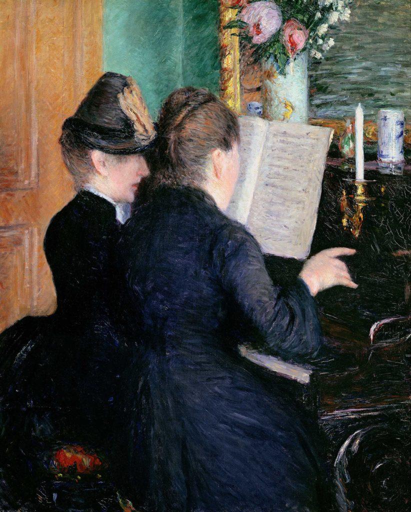 Gustave Caillebotte, La Leçon de Piano, 1889, Musée Marmottan Monet, Paris © Christian Baraja