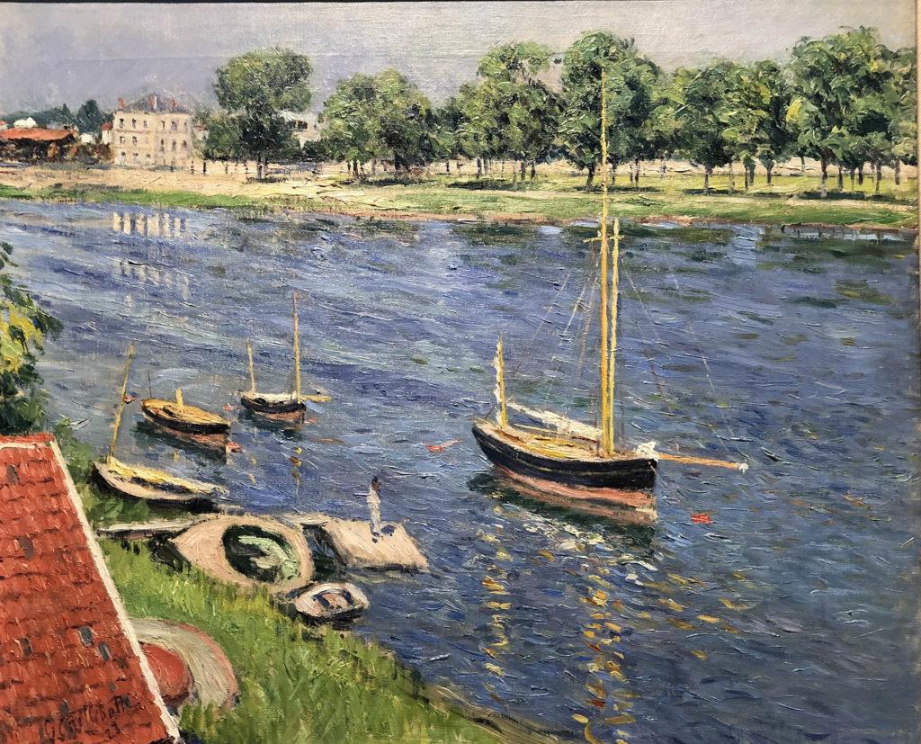 Gustave Caillebotte, La Seine à Argenteuil, bateaux au mouillage, 1883 © Private collection, Europe