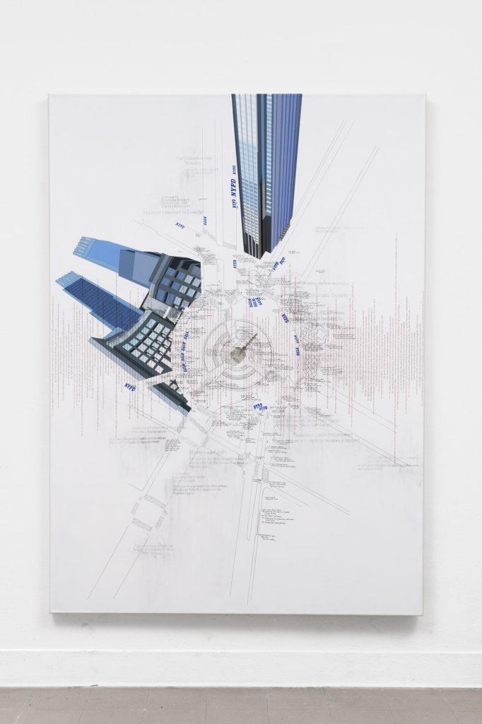 Larissa Fassler, Columbus Circle, NYC I, 2017 - 2018, Galerie Poggi