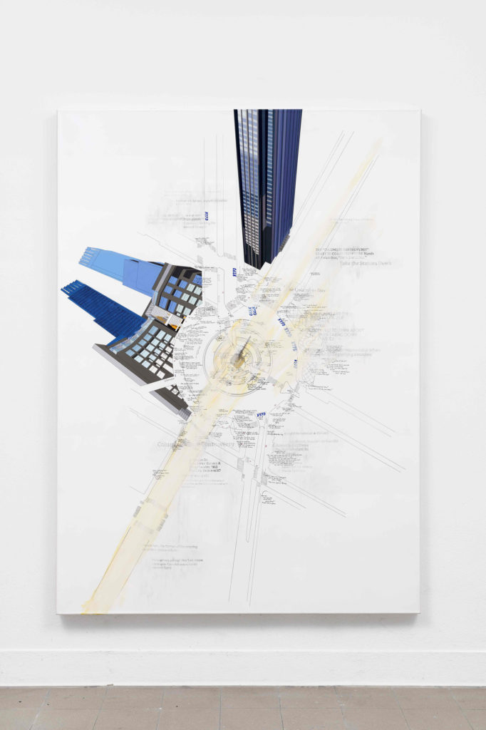 Larissa Fassler, Columbus Circle, NYC II, 2017 - 2018, Galerie Poggi