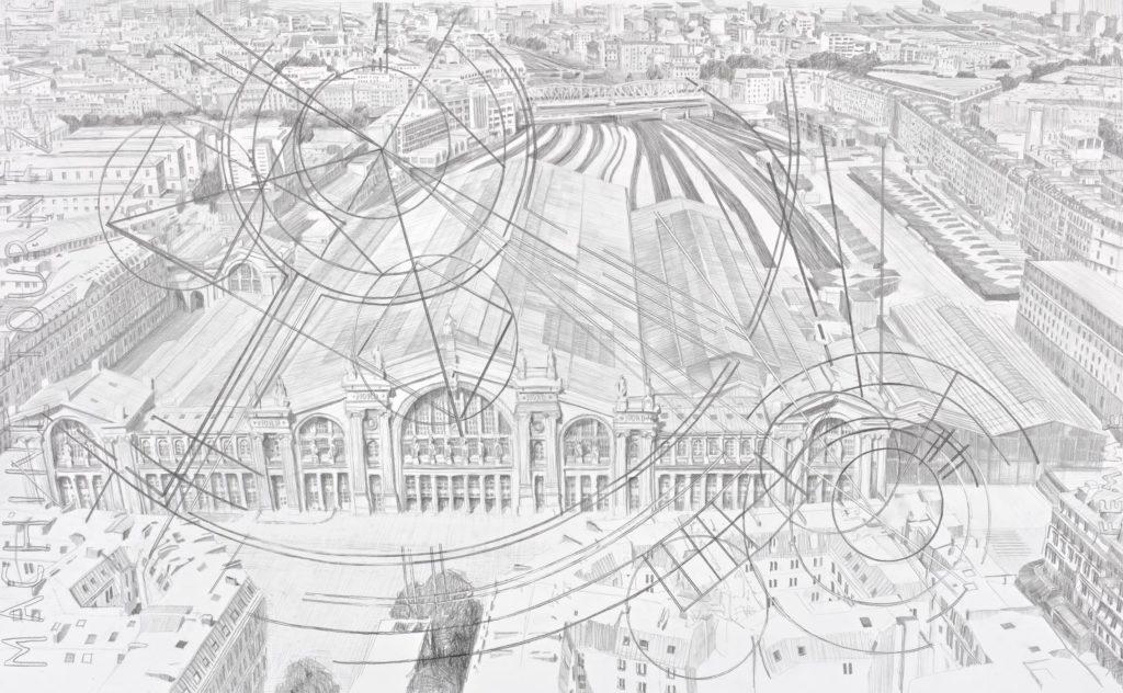 Larissa Fassler, Gare du Nord, 2020 Galerie Poggi