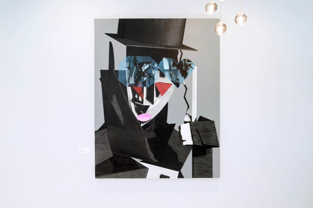 Avery Singer, Untitled 2017 exhibition view at the 2017 Jean-Francois Prat in Paris, Photo credit Luc Castel