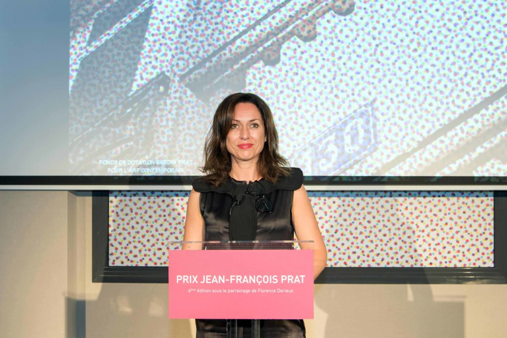 Chair Florence Derieux at the 2017 Jean-Francois Prat Prize in Paris, Photo credit Luc Castel