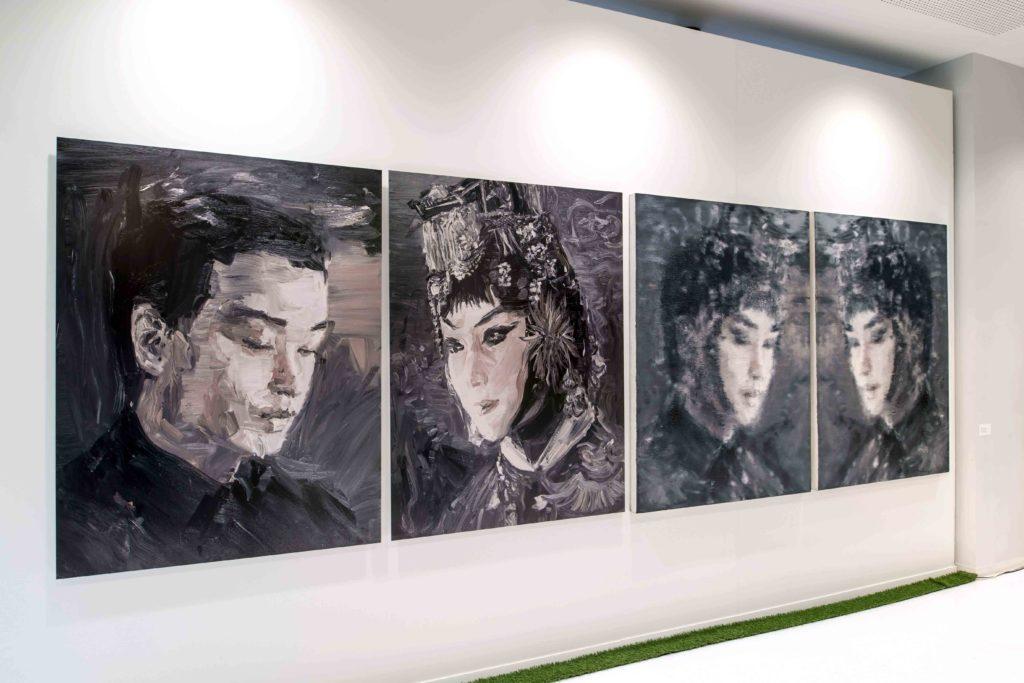 Exhibition view 3 of Li Qing at the 2017 Jean-Francois Prat Prize in Paris, photo credit Luc Castel