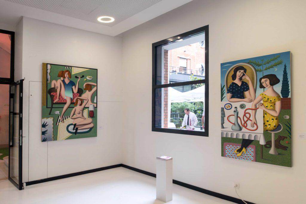 Jonathan Gardner, Exhibition view Prix Jean-Francois Prat 2017, photo credit Luc Castel
