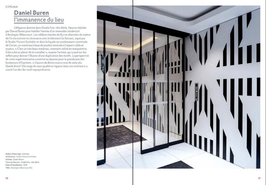 """Livre """"1 Immeuble, 1 œuvre 2015-2020"""" © Anne Bourrassé"""