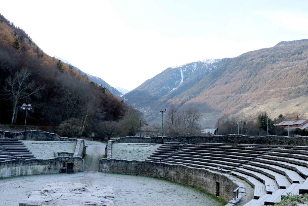 Léonard Gianadda mécène des gradins de l'amphithéâtre de Martigny © CLAD / THE FARM