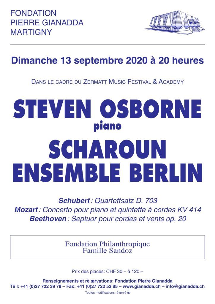 Fondation Pierre Gianadda affiche Steven Osborne, Scharoun Ensemble Berlin