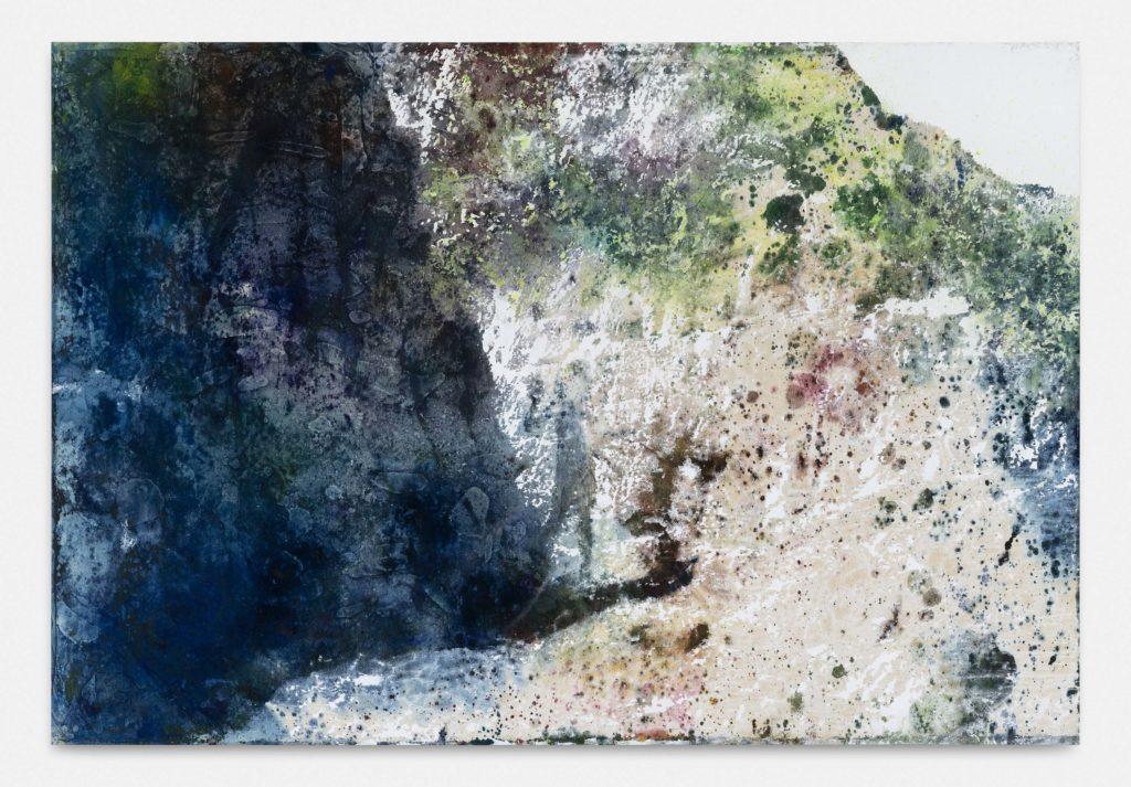 Alexandre Lenoir, Plage grise, 2020 Acrylique et huile sur toile, 195 x 286 cm © The artist. Courtesy the artist & Almine Rech Photo - Hugard and Vanoverschelde Photography