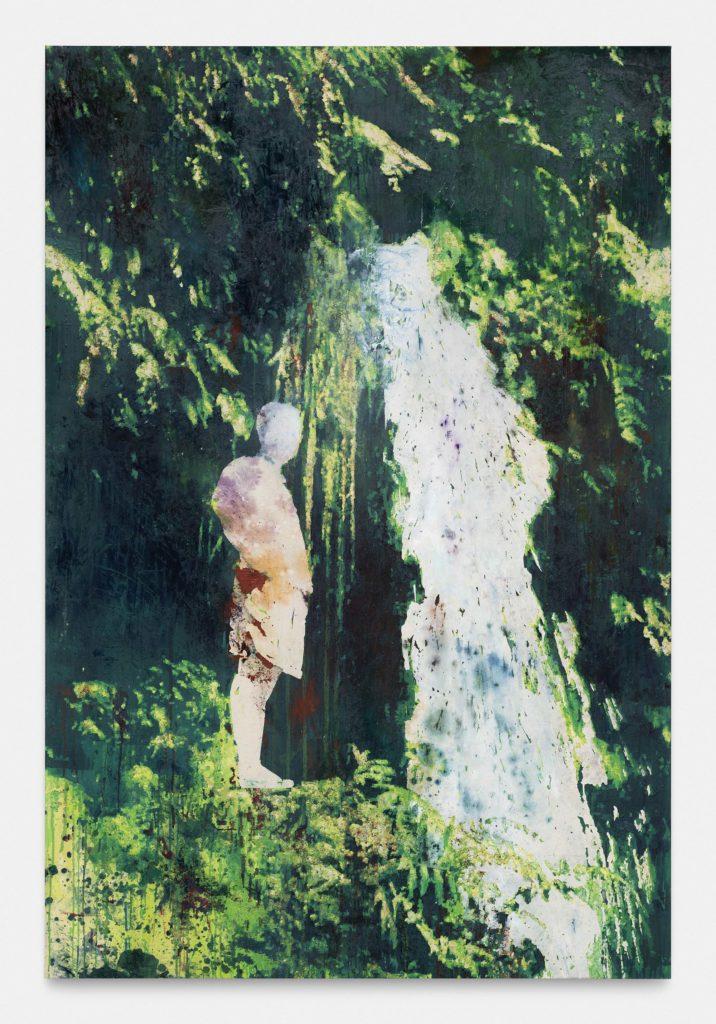 Alexandre Lenoir, Sur le bord, 2020 Acrylique et huile sur toile, 255 x 171 cm © The artist. Courtesy the artist & Almine Rech Photo - Hugard and Vanoverschelde Photography