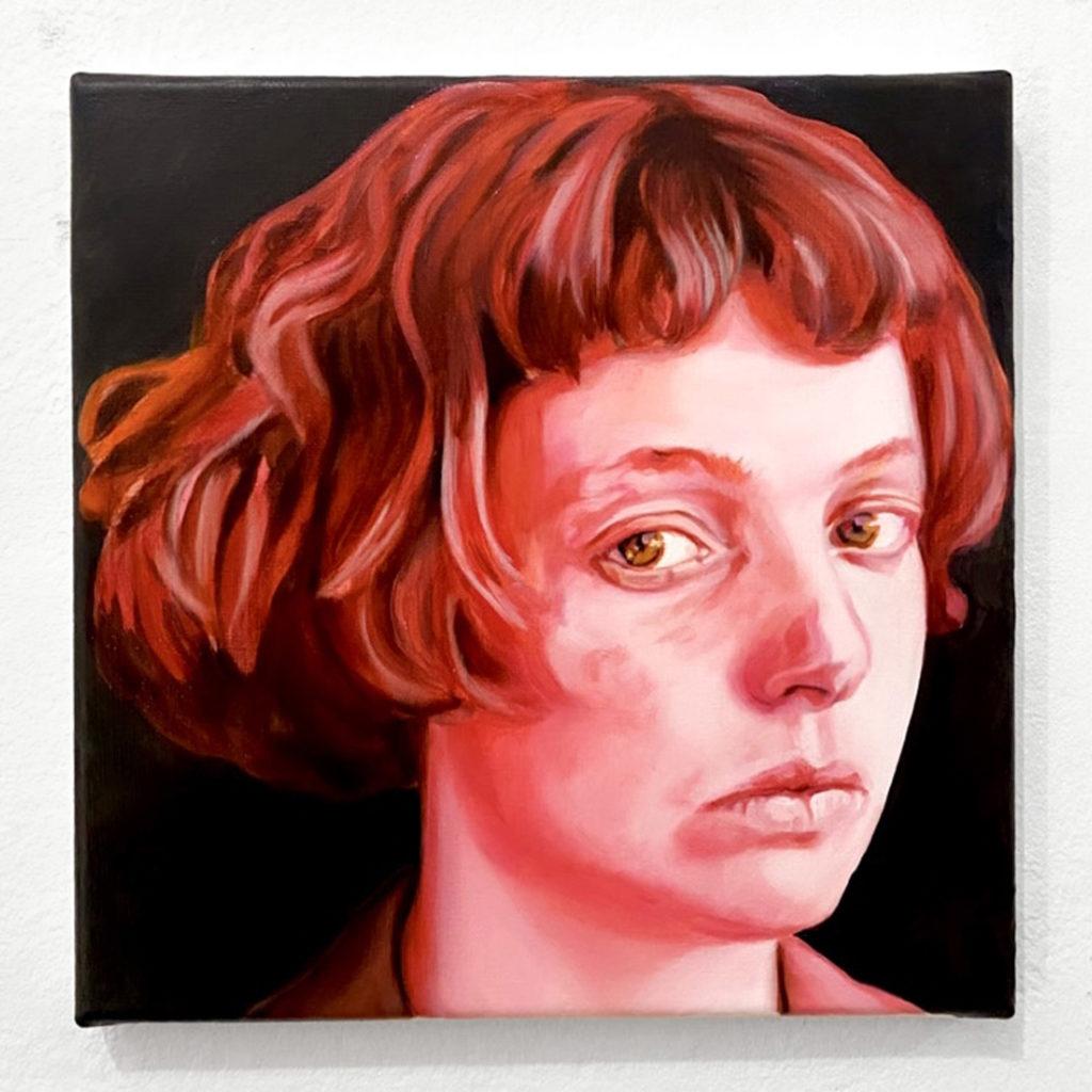 Chloë Saï Breil-Dupont, Infra Angelica, Portait de Leila, 2021 Huile sur toile, 25 x 25 cm © The artist. Courtesy the artist