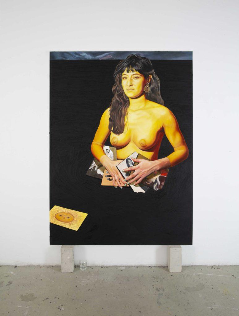 Chloë Saï Breil-Dupont, La Soleil, Portrait de Cassie, 2021 Cire et résine sur toile, 190 x140 cm © The artist. Courtesy the artist Crédit Photo - Yotam Schwartz