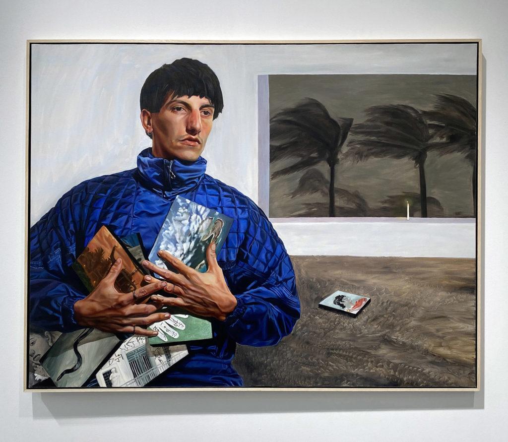 Chloë Saï Breil-Dupont, Le vent de lève, Portrait de Christophe, 2020 Huile sur toile, 100 x130 cm © The artist. Courtesy the artist