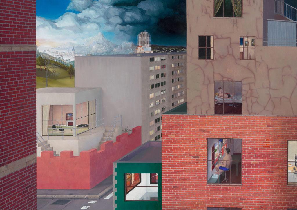 Jean Claracq, Alfred Stefaneschi de Bles, 2017 Huile sur toile 39,4 x 52,7 cm © The artist. Courtesy the artist & Galerie Sultana