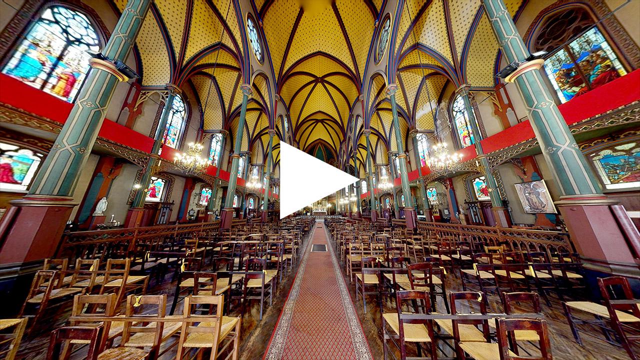Eglise Saint Eugène Sainte Cécile visite virtuelle