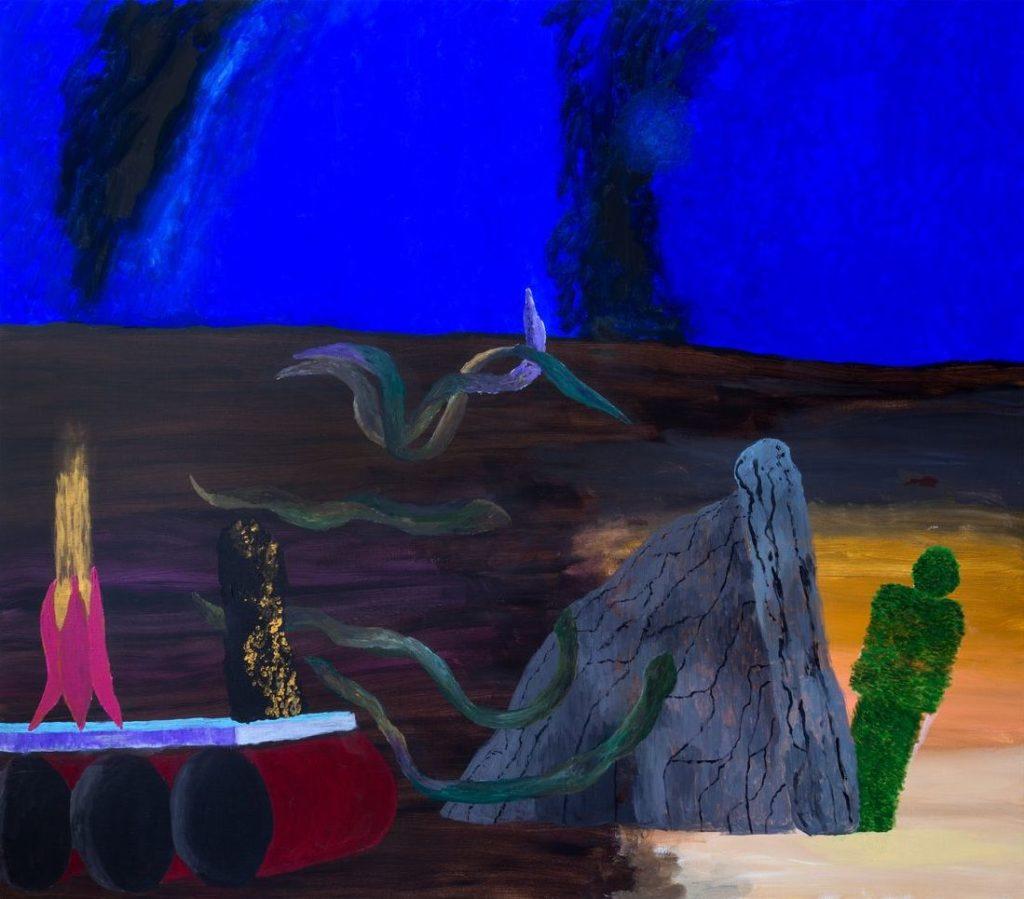Georges Tony Stoll, PARIS ABYSSE 192, 2018, Signé, titré et daté au dos, Peinture acrylique sur toile, 162 x 145 x 7 cm (encadré), Courtesy Galerie Poggi, Paris