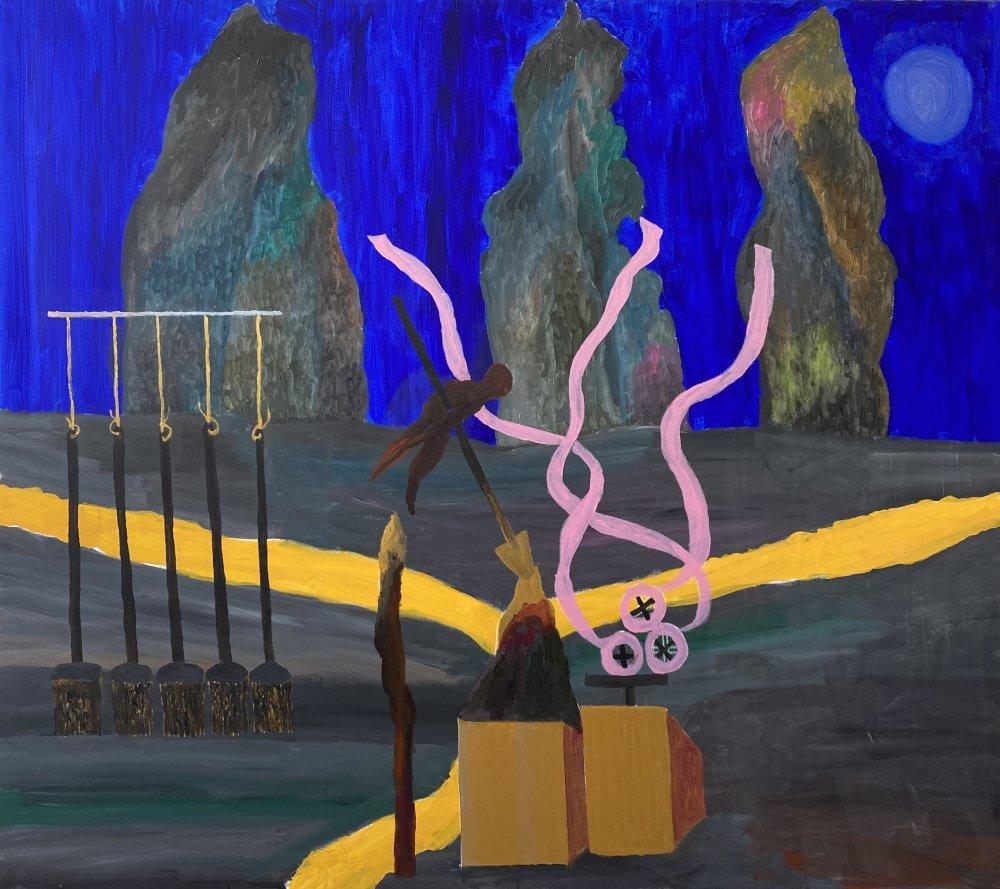 Georges Tony Stoll, PARIS ABYSSE, 2021, Acrylique sur toile, 160 x 180 cm, Courtesy Galerie Poggi, Paris
