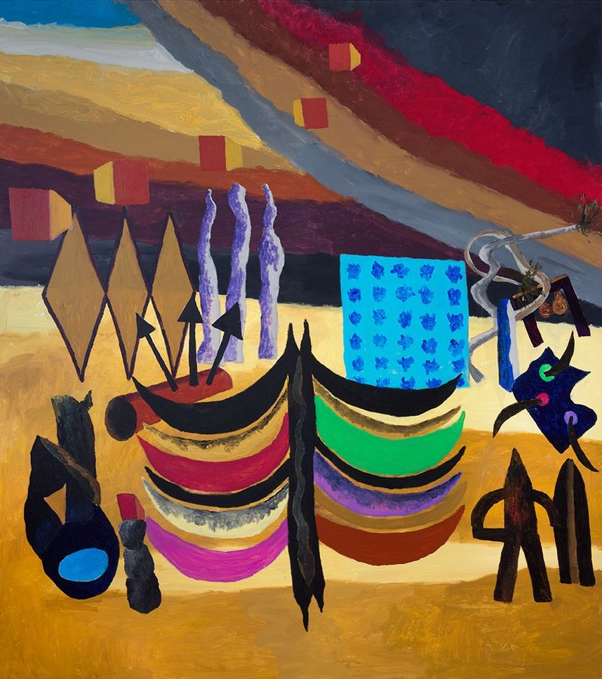Georges Tony Stoll, PARIS ABYSSE 210, 2018, Peinture acrylique sur toile, 180 x 160 cm, Courtesy Galerie Poggi, Paris