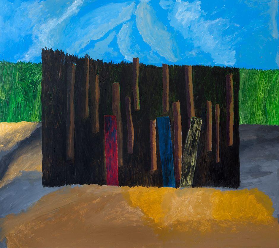 Georges Tony Stoll, PARIS ABYSSE 211, 2018, Peinture acrylique sur toile, 180 x 160 cm, Courtesy Galerie Poggi, Paris