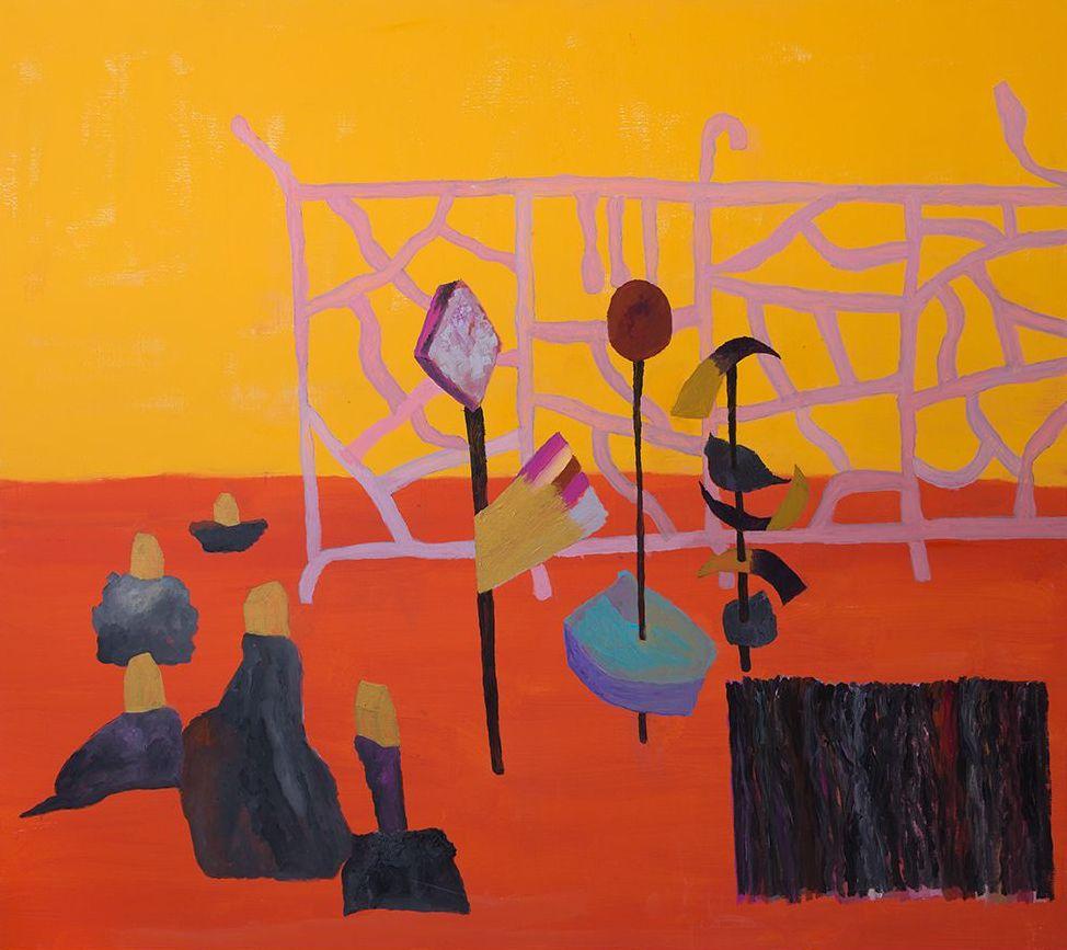 Georges Tony Stoll, PARIS ABYSSE 214, 2018, Peinture acrylique sur toile, 180 x 160 cm, Courtesy Galerie Poggi, Paris