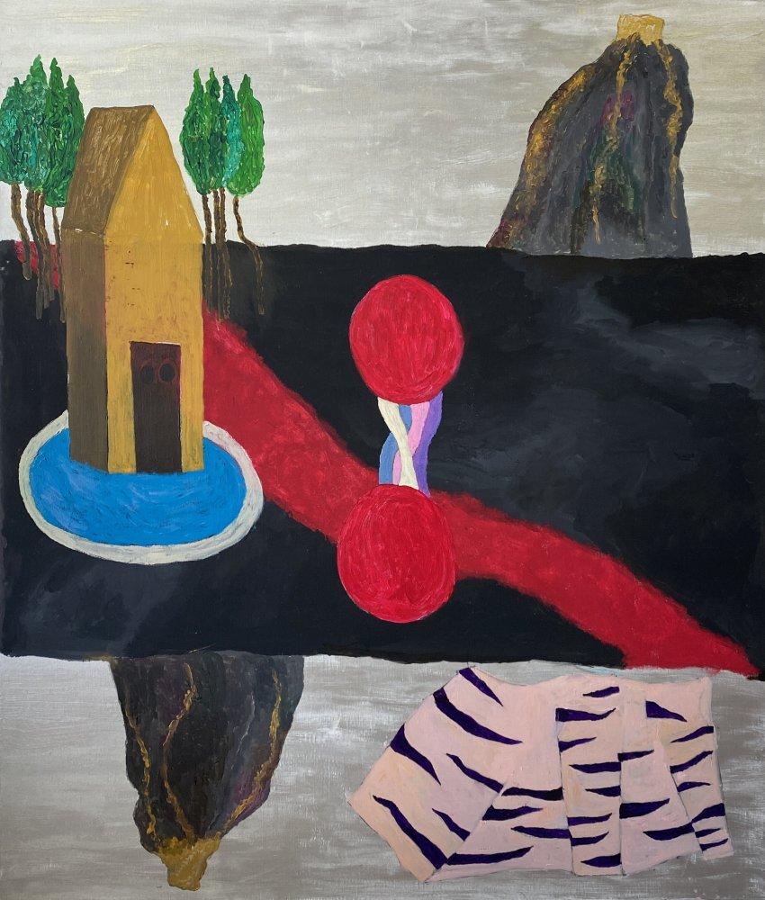 Georges Tony Stoll, PARIS ABYSSE 229 BIS, 2019, Acrylique sur toile, 140 x 120 cm, Courtesy Galerie Poggi, Paris