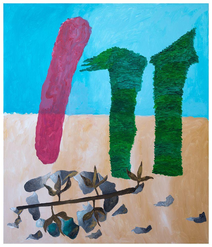 Georges Tony Stoll, Paris Abysse 217, 2018, Peinture acrylique sur toile, 140 x 120 cm, Courtesy Galerie Poggi, Paris