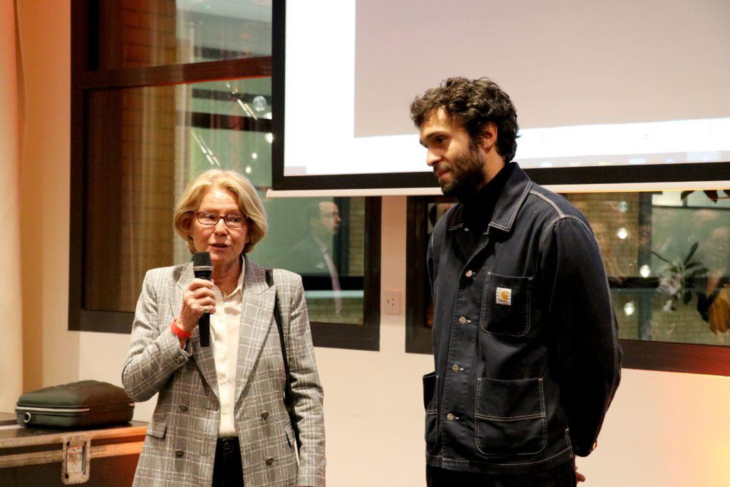 Prix Jean-François Prat 2021, Marie-Aline Prat et Alexandre Lenoir © CLAD / THE FARM